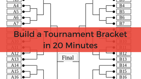 image of tournament bracket with post title superimposed over the top