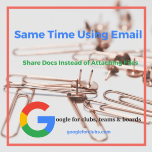 Save Time Using Email by Sharing Docs