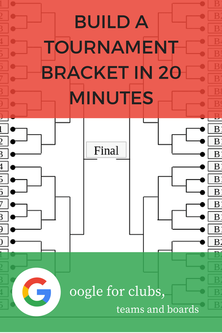 Build a tournament bracket in 20 minutes using Google Sheets and its cell border tool. It is easier than you think.