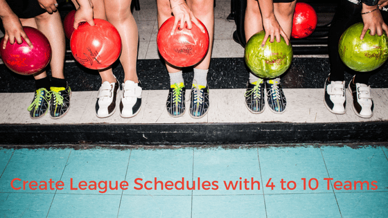 how to make a league schedule